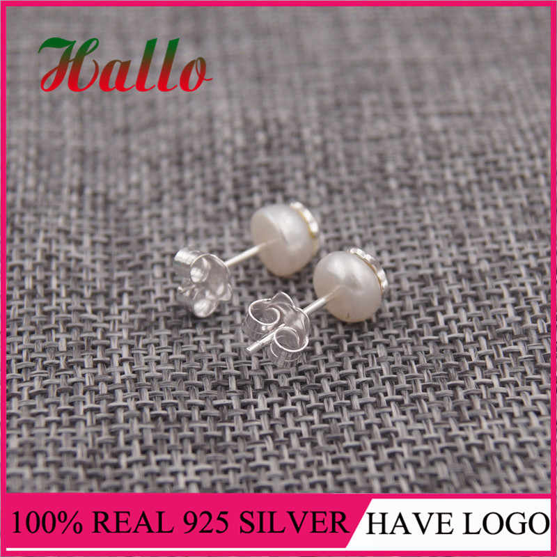 "Pendientes ô rô joyas de plata 925 Bông Tai Ngọc Trai pendientes plata de ley 925 mujer ""Thiên Nhiên Ngọc Trai"