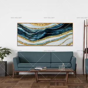 100% Handmade 2020 High-end Decorative Paintings Gold Foil Abstract Oil Painting Modern Picture Home Decor As Gift(China)