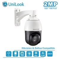 UniLook(Hikvision Compatible) 2MP POE Mini High Speed 30X Optical Zoom PTZ IP Camera Outdoor Security ONVIF IR 80m AZ IPZ50230E