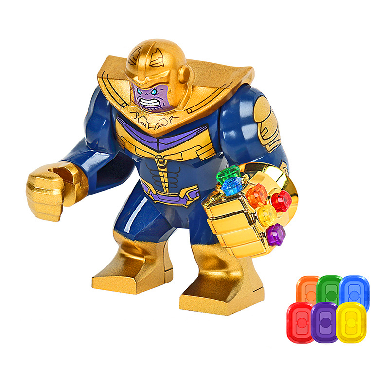 The Avenger 3 Thanos Infinity Gloves Sent 6Pcs Energy Stones Brinquedos Building Blocks Bricks Models Figure Educational Toys