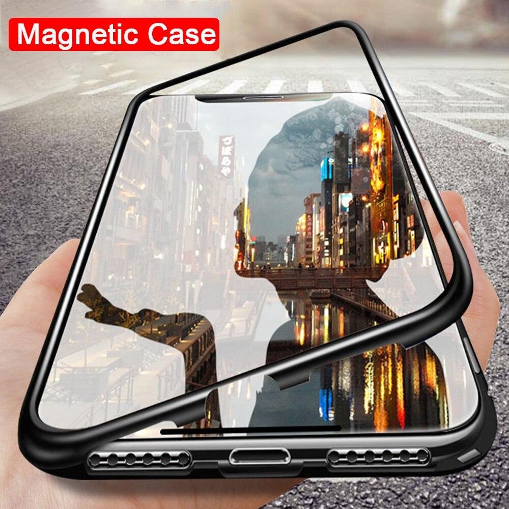 Магнитный металлический чехол для Xiaomi mi 9 SE Honor 8 lite F1 9T CC9 A3 9SE чехол для Red mi Note 8, 7, 6, 10 Pro 7A 8A K20 Стекло Защитный чехол|Специальные чехлы|   | АлиЭкспресс