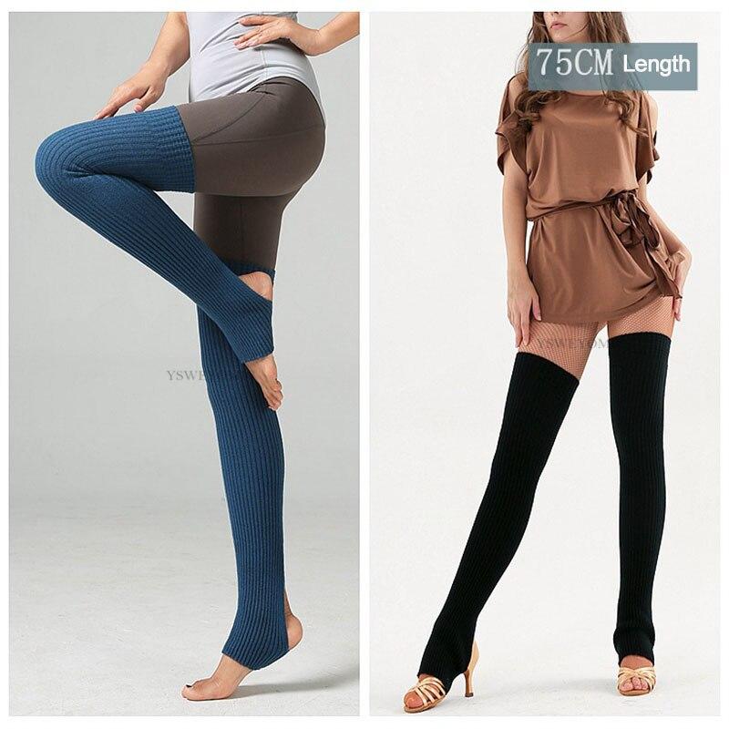 Adult Ballet Socks Yoga Yoga Warm Latin Leggings Lengthen Feet Over Knees Pile Socks 75CM Dance Stocking