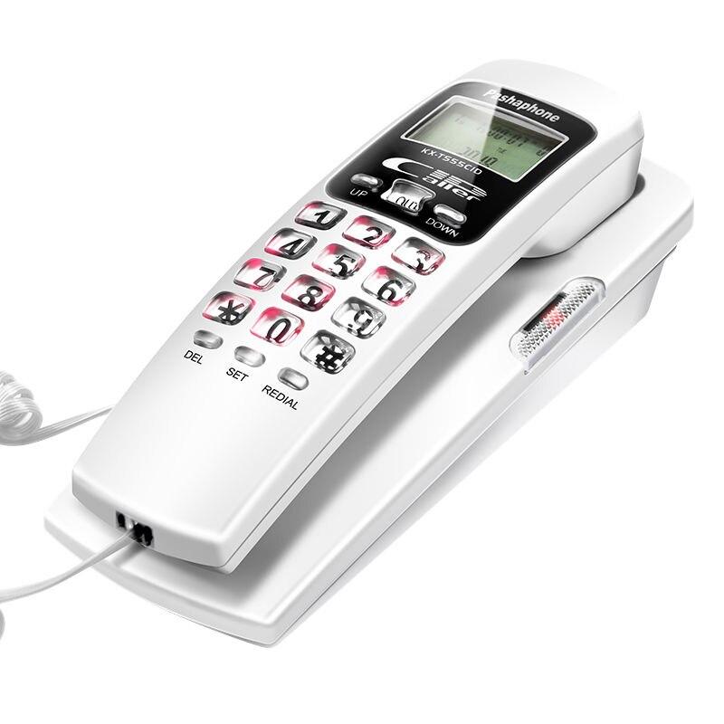 FSK/DTMF Corded Telefon Anrufer ID Telefon Festnetz Telefone Mode Verlängerung Telefon für Home Office Hotel Schwarz