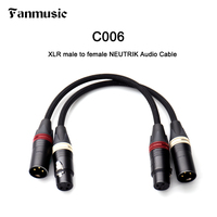 Fanmusic C006 Balanced XLR Male to Female Audio Cable made of Black Gold plated NC3MXX B AND NC3FXX B of NEUTRIK