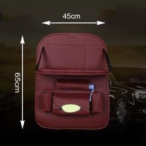 Image 4 - Araba arka koltuk saklama çantası su şişesi dergisi gıda telefon otomobil organizatör araba arka koltukta çok cep tutucu