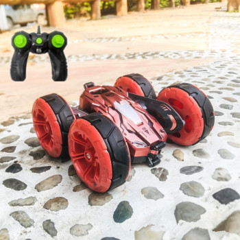 2.4G Double-Sided Stunt RC Car 4WD 360° Rotating Stunt Deformation Buggy Remote Control Car With Light Toys for children Gift