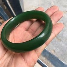 Красивый женский браслет китайский темно-зеленый ручной резной браслет 58 мм-62 мм KYY8909