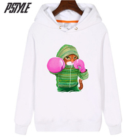 pstyle cartoon hoodies for women kpop pullovers girls funny cartoon cat print hooded sweatshirts shirts womens long sleeve tops