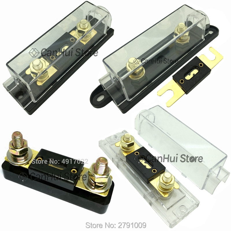 2Pcs ANL fuse holder Bolt-on Fuse Automotive Fuse Holders Fusible Link with fuse 40A 60 80 100 120 225 275 300 400A 450A 500 AMP(China)
