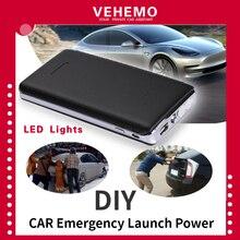 Vehemo черный пусковой набор power Bank power Kit ультратонкий автомобильный пусковой набор зарядное устройство многофункциональное автомобильное зарядное устройство