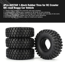 4Pcs AUSTAR 1.9inch Rubber Tires Tyre Sponge Liner for RC Crawler Climbing Off-road Buggy Car Vehicle Model Truck CC01 D90 fz