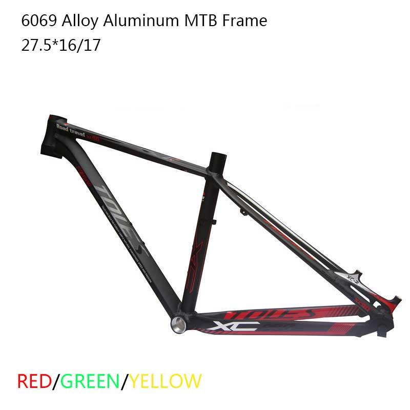 "High Quality 6069 Alloy Aluminum 27.5 er MTB Frame 17"" Inner Cable Disc Brake Mountain Bike Frame Bicycle Frame     - title="