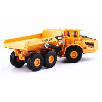 Alloy 1:87 Scale Dump Truck Diecast Construction Vehicle Cars Lorry Toys Model image