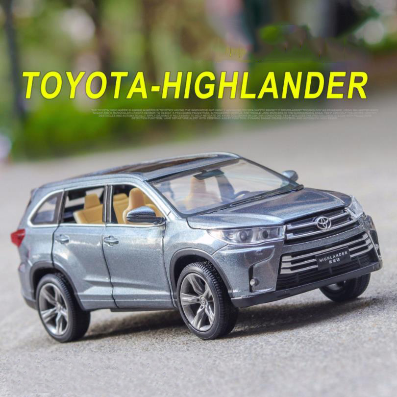 1/32 Toyota Highlander  Diecasts & Toy Vehicles  Car Model With Sound&Light Collection Car Toys For Boy Children Gift Birthday