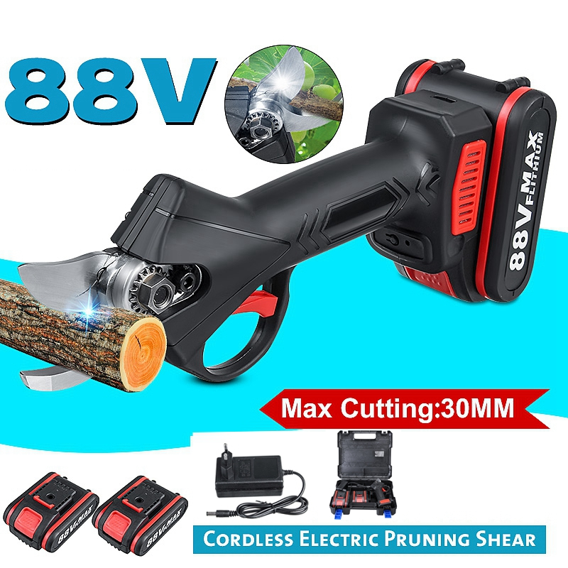 NEW 88V Cordless Pruner Lithium-ion Pruning Shear Efficient Fruit Tree Bonsai Pruning Electric Tree Branches Cutter Landscaping