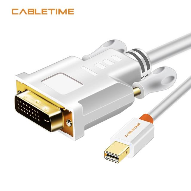 CABLETIME Thunderbolt Mini Displayport Mini DP zu DVI Kabel Konverter für MacBook Pro AiMini TV Laptop Projektor Adapter N014