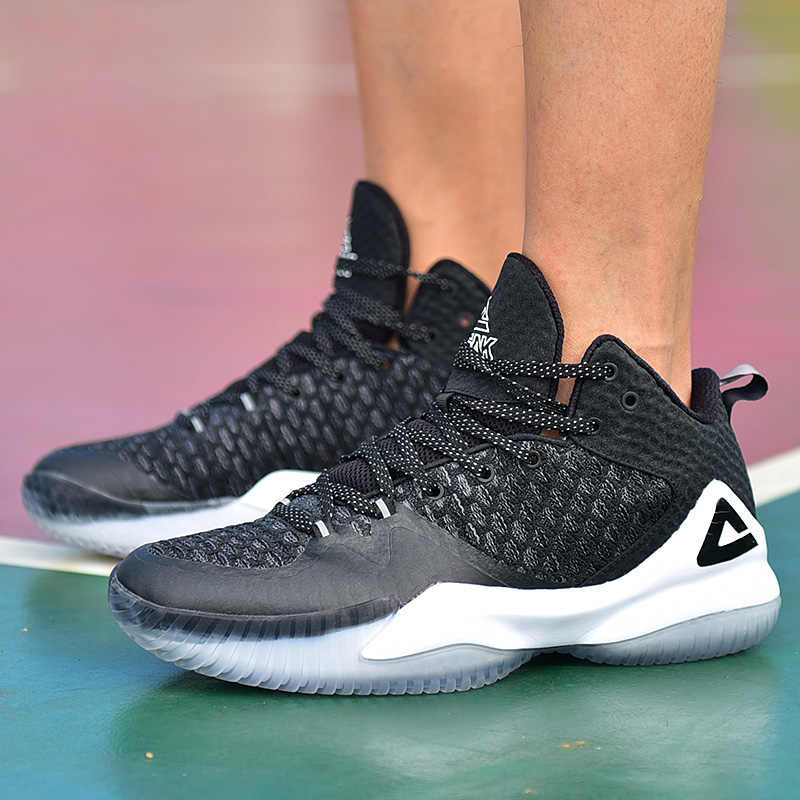 Tepe erkekler Streetball ana basketbol ayakkabıları nefes Anti-kayma giyilebilir basketbol Sneakers ribaund spor salonu açık spor ayakkabı