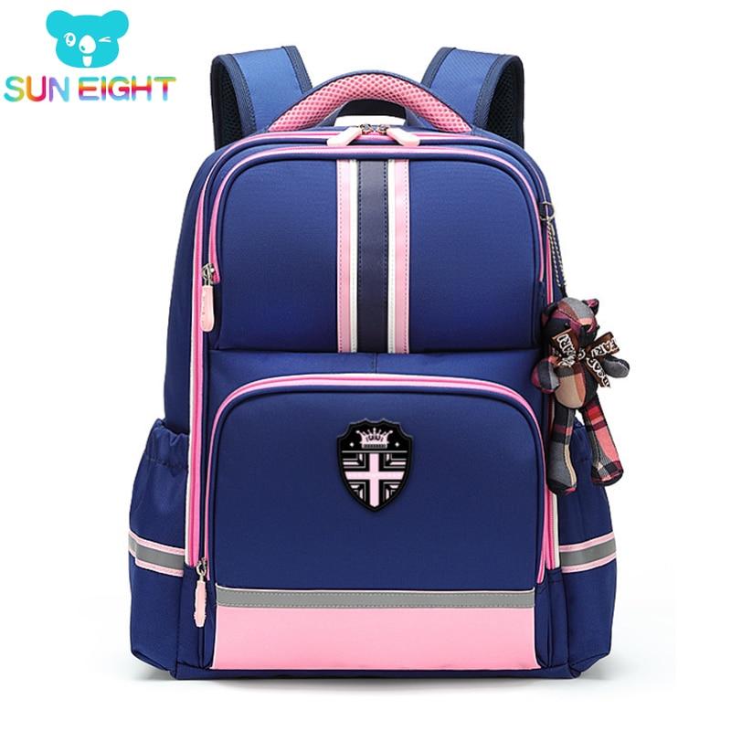 SUN EIGHT Girl Backpack School Bags For Girls Orthopedic Back Children Backpacks Mochila Escolar