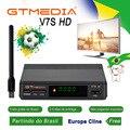[Бразилия] Оригинальный GTMEDIA V7S HD DVB-S2 цифровой спутниковый ТВ приемник 1080P тюнер + 1 шт. USB Антенна Поддержка Cccam/Newcam CS YouTube