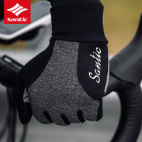SANTIC Cycling Bike Gloves Windproof Outdoor Full Long Finger Bicycle Gloves Ultra thick Winter Fleece Thermal Warm Gloves