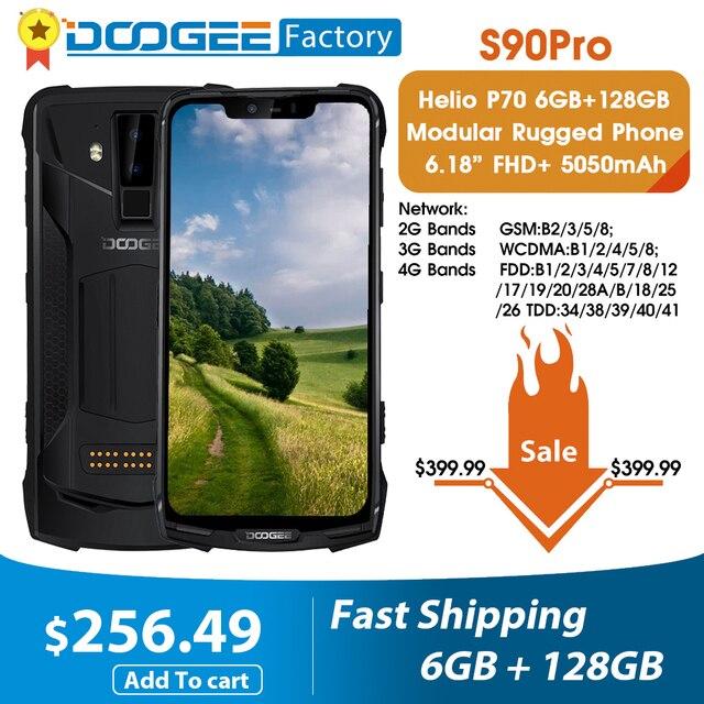 Doogee S90 Pro Modulare Mobile Del Telefono Helio P70 Octa Core 6GB 128GB NFC 6.18 FHD + Display IP68/IP69K 4G LTE smartphone