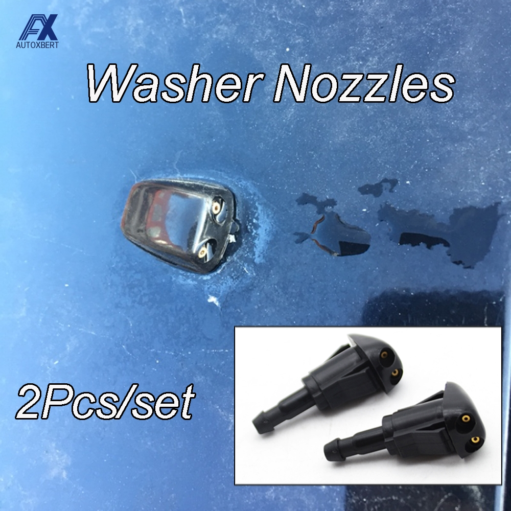 Zfggd 2Pcs Front Windshield Wiper Washer For Jet Nozzle For Toyota Yaris XP10 Tacoma MR2 Celica