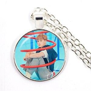 202 армейская бомба Kpop 25 мм стеклянный кабошон кулон ожерелье BT21 ювелирные изделия K-pop аксессуары для мальчиков для фанатов Bigbang альбом Love ...