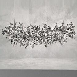 Terzani argent beleuchtung hand made edelstahl blatt kronleuchter lampe für wohnzimmer/schlafzimmer hause deor beleuchtung