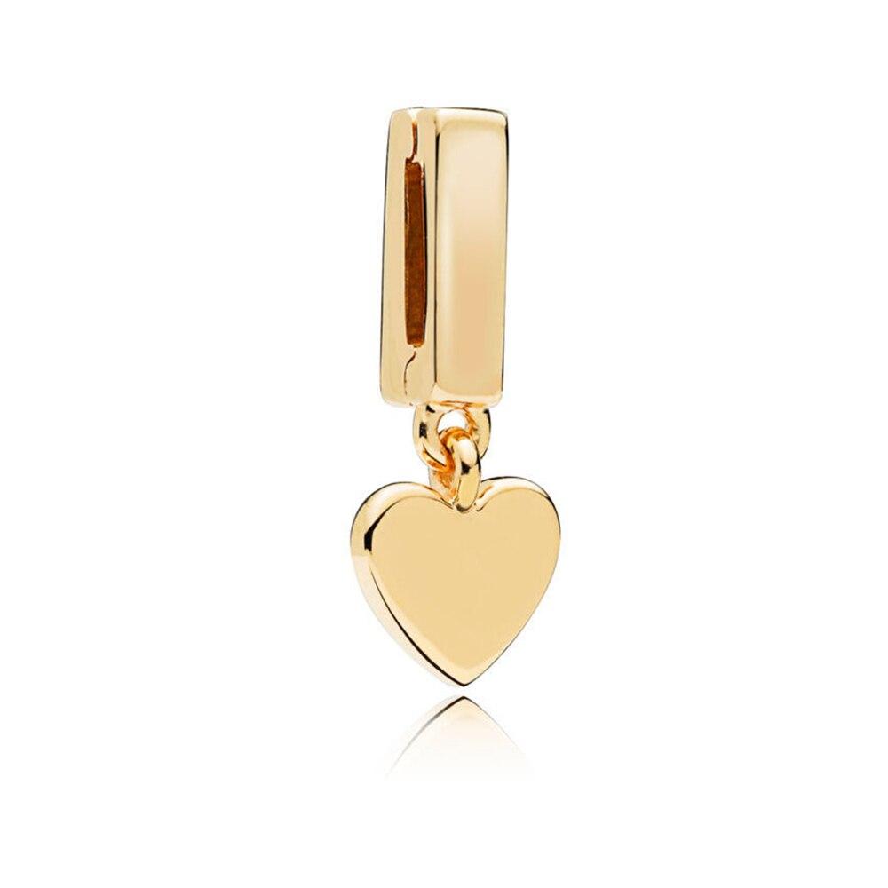 FEOLEO натуральная 925 пробы Серебряная скобка, очаровательные, подходят к оригиналу Pandora браслетов reflexions для Для женщин розового золота Цвет ювелирные изделия - Окраска металла: PAX012-B