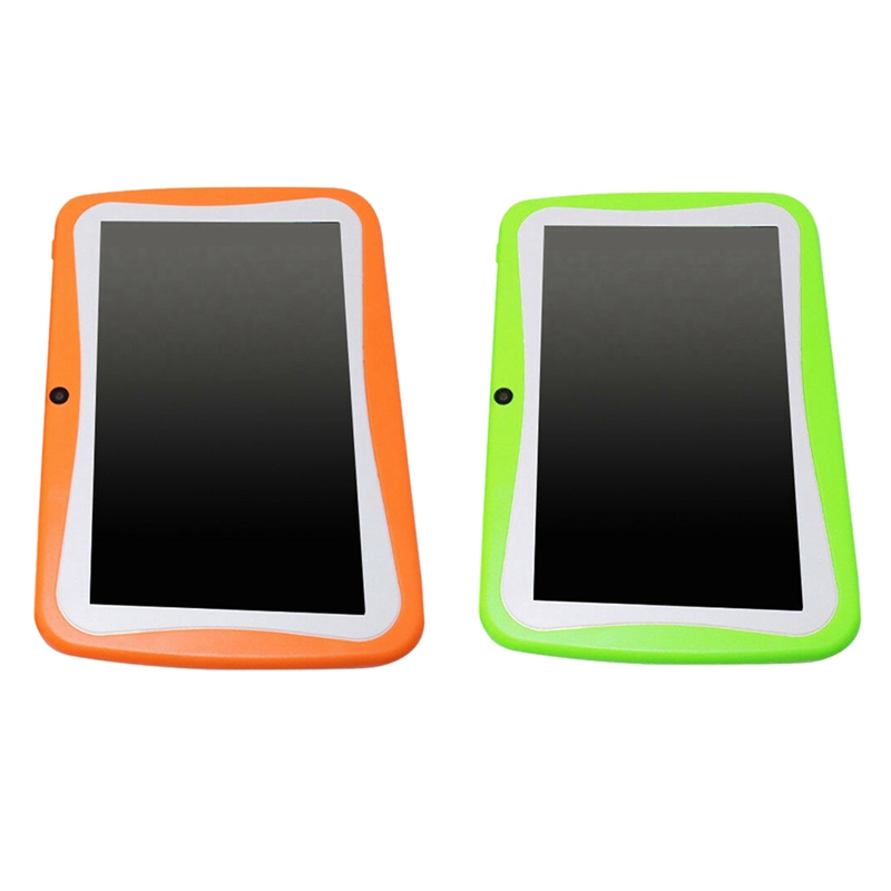 HOT-2x 7 Inch Kids Tablet Android Dual Camera WiFi Education Game Gift For Boys Girls ,Orange/Green,US Plug