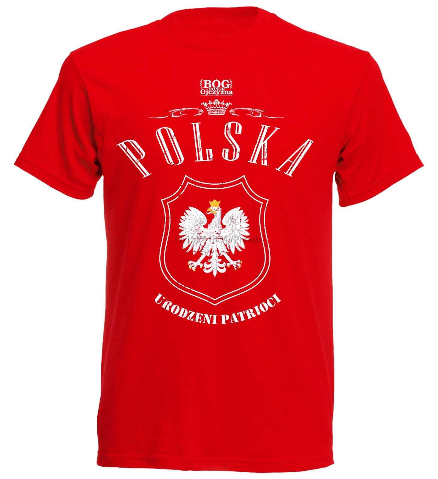 夏の新ブランド Tシャツ男性ヒップホップ男性カジュアル Tシャツ Polen ポーランドヴィンテージポルスカ FootballerTee シャツ