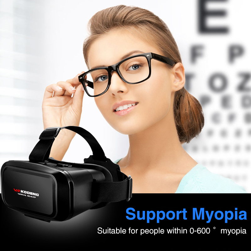 Original 3D Virtual Reality VR Glasses Support 0-600 Myopia Binocular 3D Glasses Headset VR for 4-7 Inch IOS Android Smartphone 3