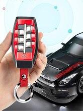 Absプラスチック車のキーケースカバーチェーンホルダー日産ジュークパルサーlanniaアルティマ注gtrシルフィ2015 2019 2020自動車の付属品