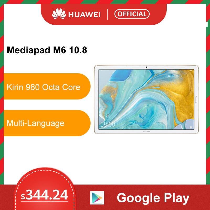 Original Huawei Mediapad M6 10.8 Inch 4GB 64GB WIFI LTE Kirin 980 Octa Core Android 9.0 Tablet Type-C Google Play GPU Turbo 3.0