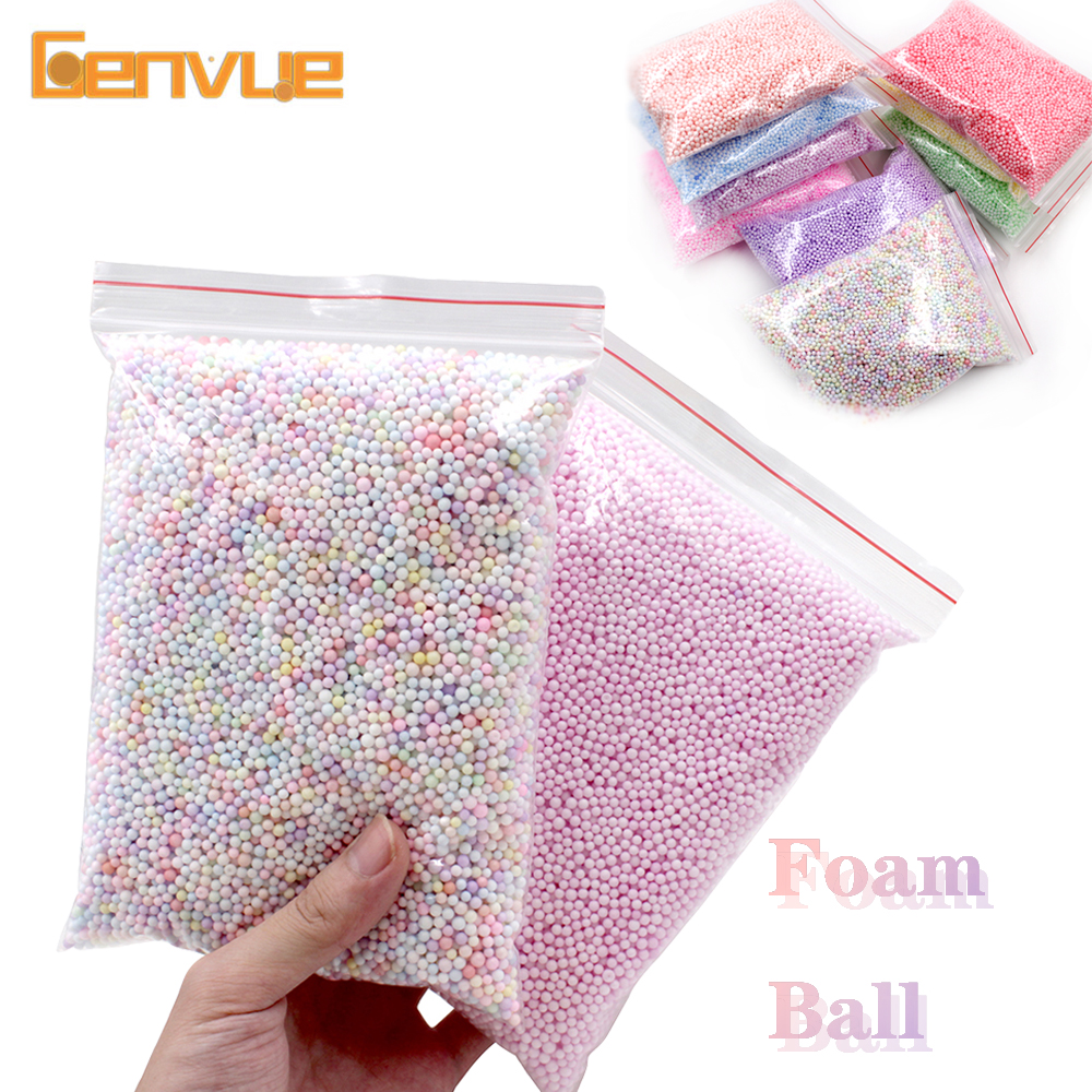 Foam Beads Ball Addition For Slime Fluffy Play Foam Plasticine Magnet Tool Playdough Polymer Clay Charms Soft Moilding Clay Toys
