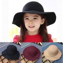 2020 Parent-child Winter Imitation Woolen Fedoras Jazz Hat K