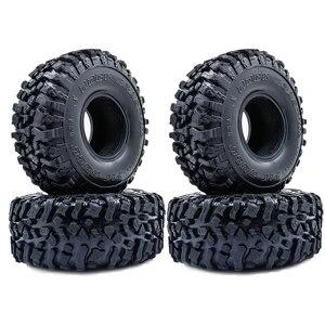 Image 1 - 4 Uds. De neumáticos blandos de 120MM y 1,9 pulgadas para SCX10 90046 D90 TRX4 RC Truck Crawler 1,9/2,2 Rim