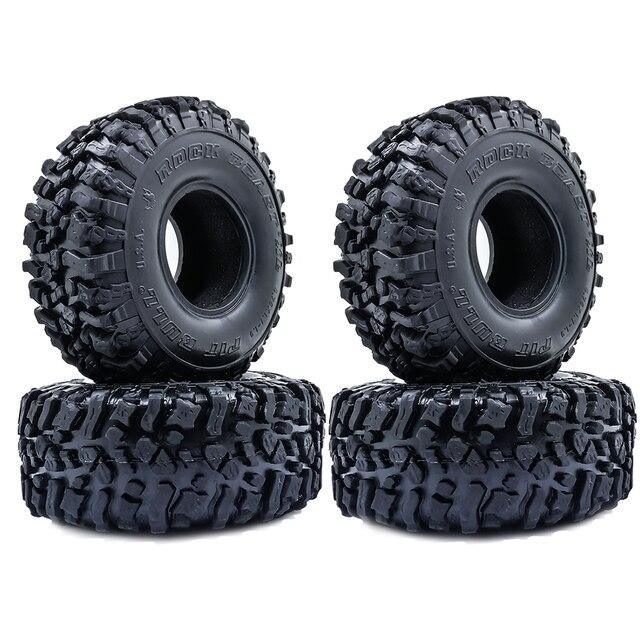 4 Uds. De neumáticos blandos de 120MM y 1,9 pulgadas para SCX10 90046 D90 TRX4 RC Truck Crawler 1,9/2,2 Rim