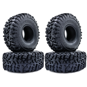 Image 1 - 4PCS 120MM 1.9 Inch Soft Tires For SCX10 90046 D90 TRX4 RC Truck Crawler 1.9/2.2 Rim