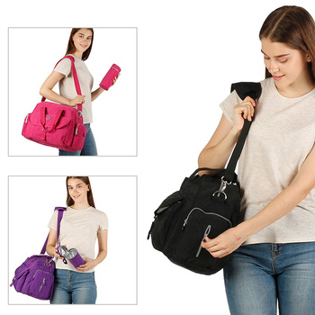 Waterproof Diagonal Mommy Bag Multi-function Large-capacity Pregnant and Infant Travel Mother and Baby Bag Three-piece Set