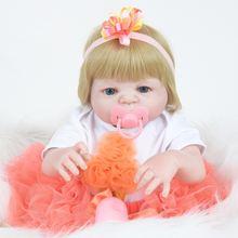 55 см Силиконовая игрушка для новорожденных девочек подарок