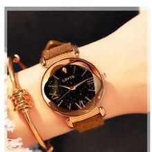Luksusowe kobiety Casual zegarki damskie zegarki z diamentami Starry Sky panie zegarek kwarcowy dla relogio feminino montre femme 2019