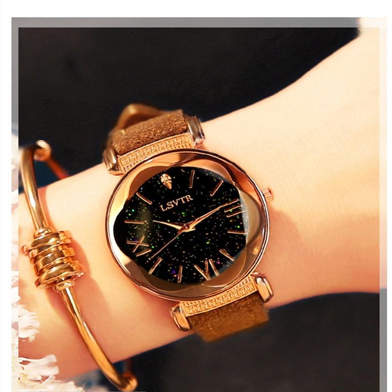Luxury Women Casual Watch Diamond Women Watches Starry Sky Ladies Quartz Wrist Watch For Relogio Feminino Montre Femme 2019
