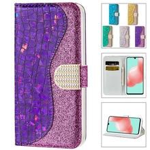 Блестящий женский чехол-кошелек с подставкой для Samsung S21Ultra S20FE S10 S9 S9Plus S8 S7Edge Note10 Note20 F62