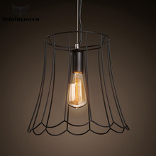 Retro Antique Vintage American Wrought Iron Edison Led Pendant Lights Dinning Room Home Decor Living Room Pendant Lamp Fixture