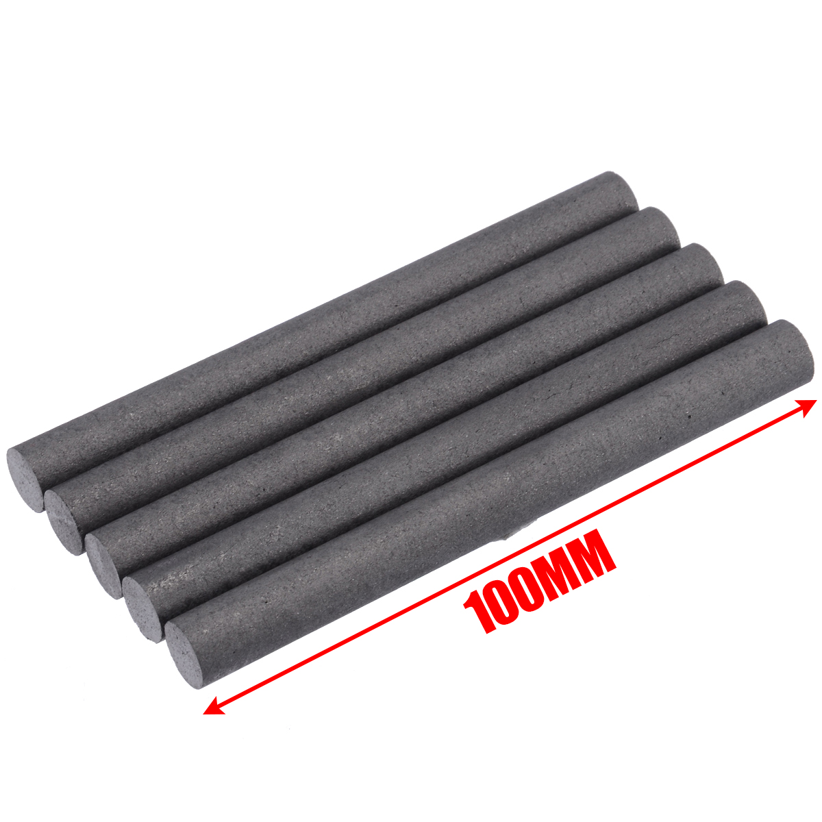 5Pcs High Purity 99.99% Graphite Rods High Temperature Conductive Graphite Electrode Cylinder Rods Bars 100mm For Industry Tools