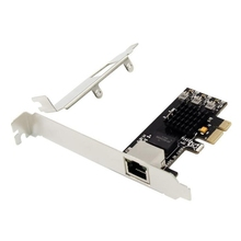 Adaptateur réseau Ethernet Pci-E 2.5G à Port unique Pci-E X1 2.5G carte Lan Rtl8125 prend en charge le Mode 2.5G and1G Lite