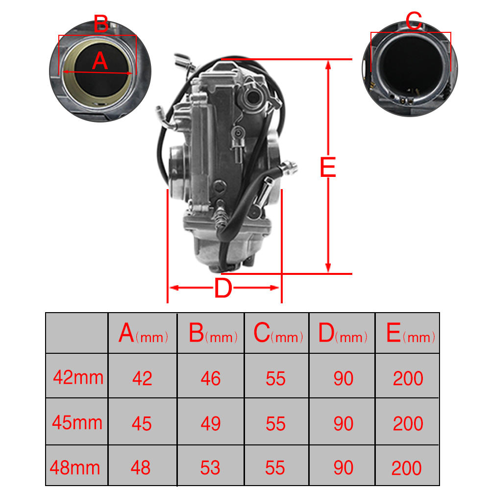 bomba de acelerador pumper carburador carb para harley tm42 tm45 tm48 02