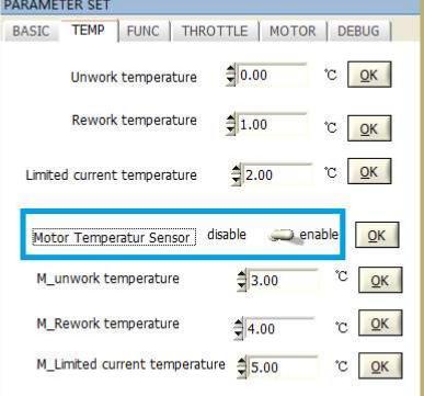 Motor temperature