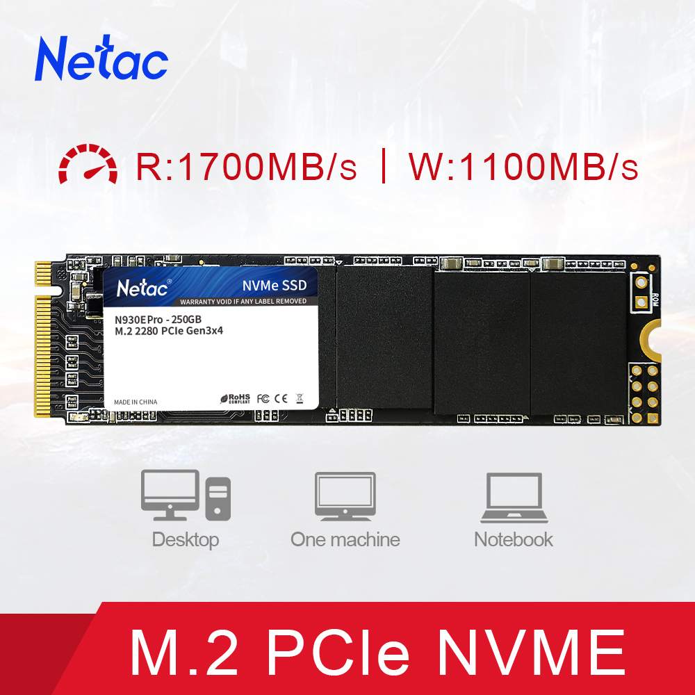 Netac SSD M 2 NVME PCIe M2 Internal Solid State Drive SSD 1TB 500G 250G 2280 Hard Drive Disk HDD for Computer Laptop Free Ship